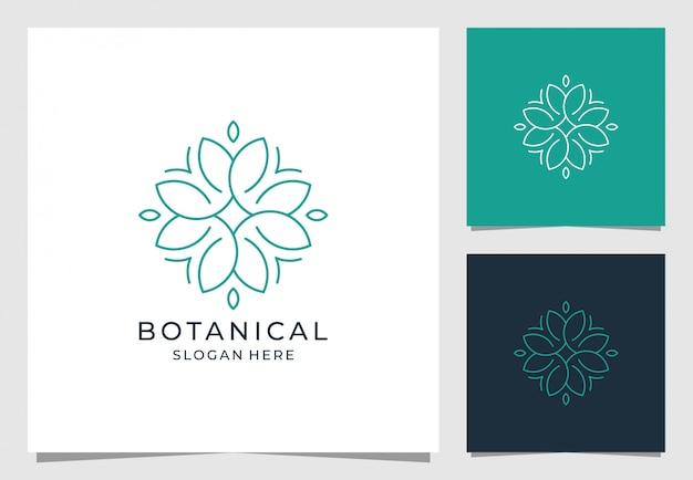 Цветочный дизайн логотипа в простом стиле
