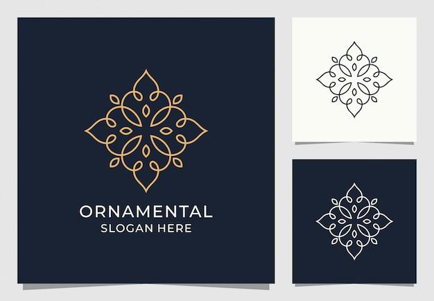 Орнамент логотип премиум дизайн