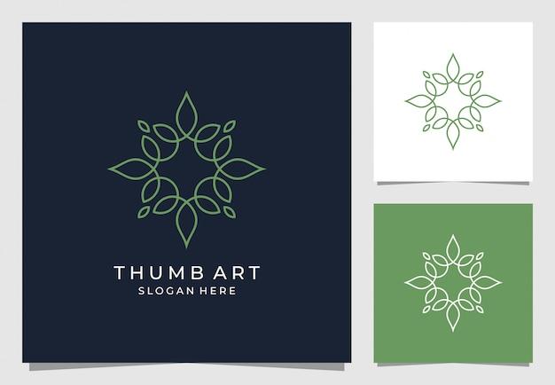 Дизайн логотипа орнамент с цветочным стилем