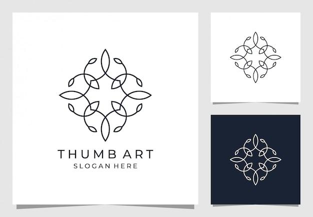 Орнамент дизайн логотипа в цветочном стиле