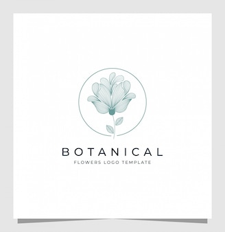 Ботанический логотип вдохновение