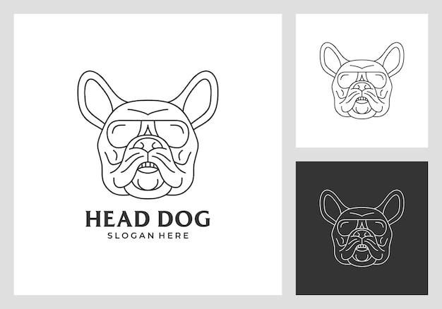 Дизайн логотипа головы собаки