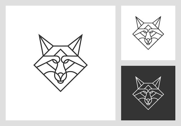Дизайн логотипа головы лисы