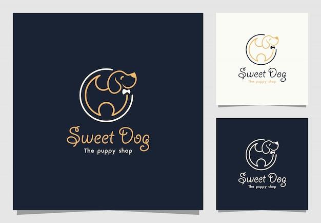 Зоомагазин вдохновение дизайн логотипа