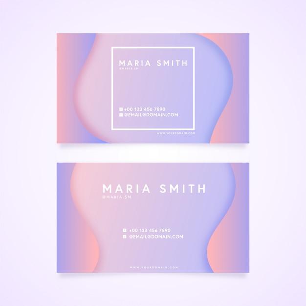 エレガントな名刺鮮やかな色の紫
