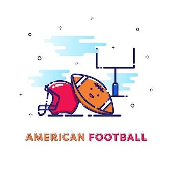 アメリカンフットボールのスポーツイラスト