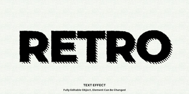 Черный винтажный текстовый эффект