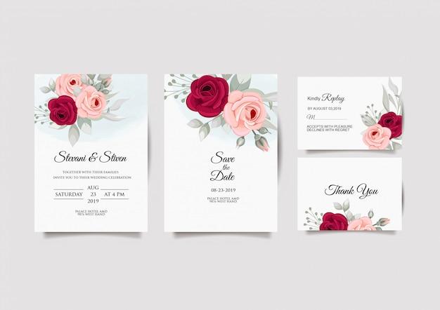 Дизайн шаблона свадебного приглашения