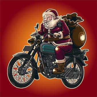 サンタに乗る
