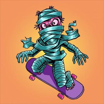 Мумия и скейтборд