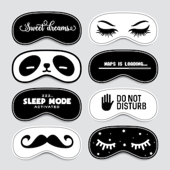Спящая маска дизайн набора.
