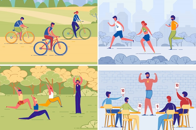 Физическая активность и здоровый образ жизни людей.