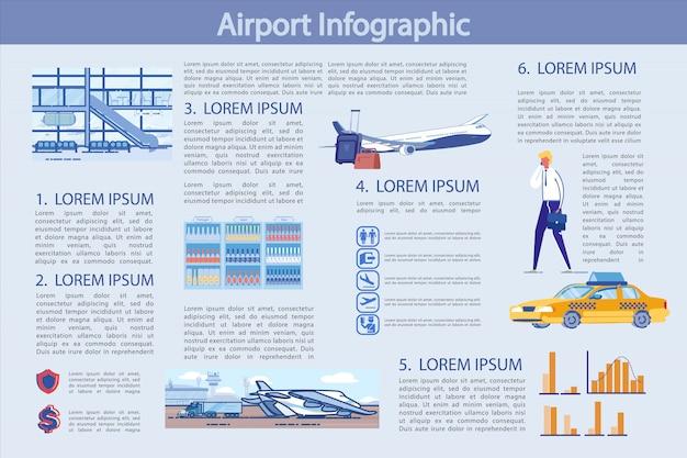 空港インフォグラフィックテンプレート