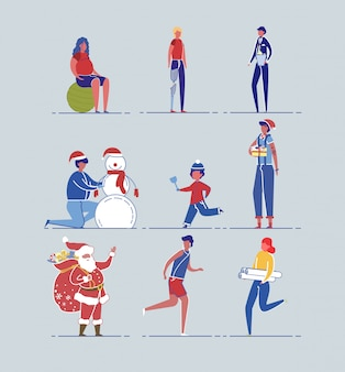 Подготовка к рождественским праздникам и ежедневная рутина.