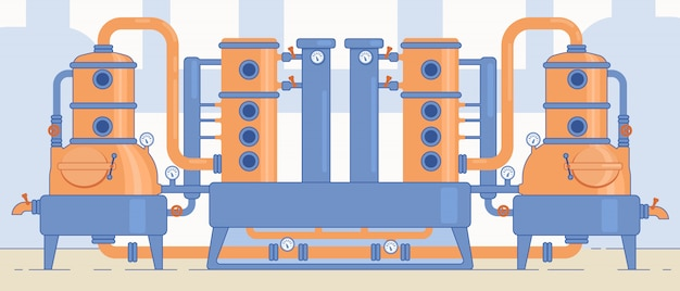 Ремесло пивоваренный завод оборудование и машины.