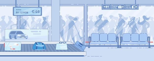 Современный аэропорт, прибытие службы