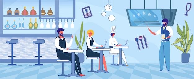 Человек, обучение работников ресторана, франчайзинг.