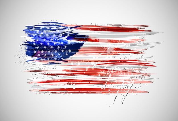 アメリカの旗。