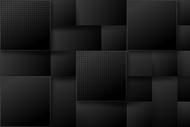 Современный квадратный абстрактный черный фон