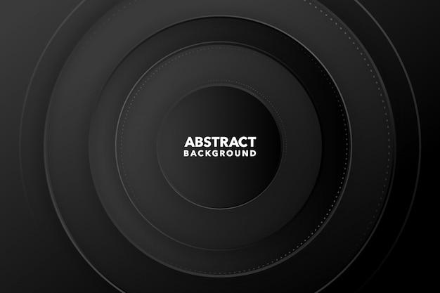 Черный современный абстрактный круглый фон