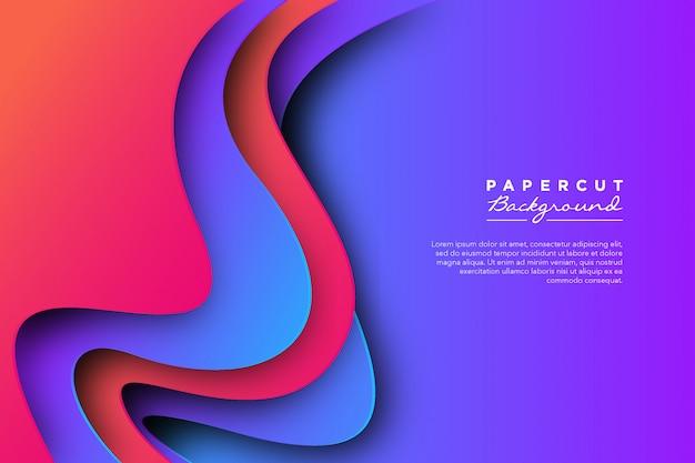 抽象的な紫ピンク紙カット背景