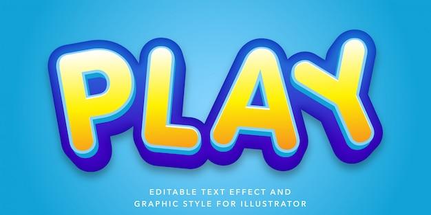 Играть редактируемый текстовый эффект для иллюстратора
