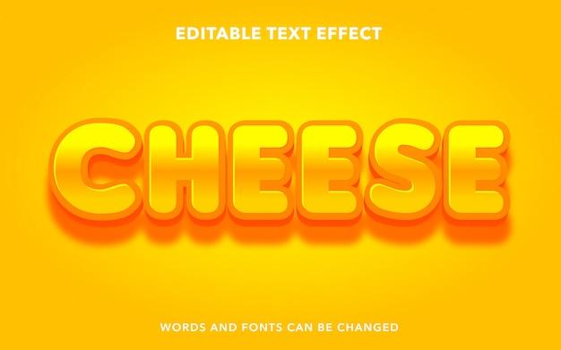 Редактируемый текстовый эффект для стиля текста сыра