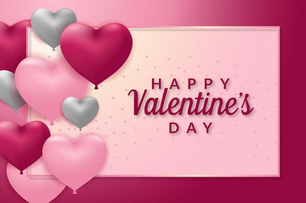 Шаблон поздравительной открытки с днем святого валентина