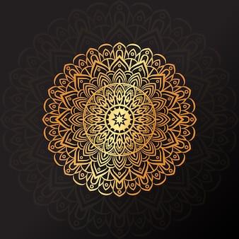 Роскошная золотая мандала