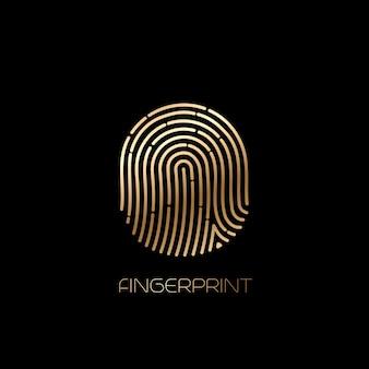 Значок идентификации отпечатков пальцев. векторная иллюстрация