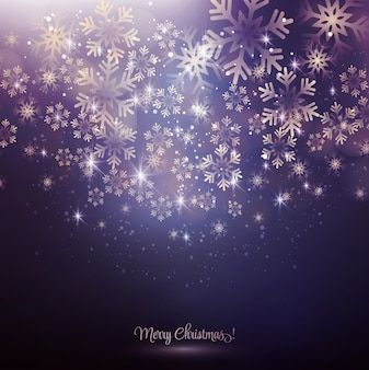 Рождественские снежинки фон
