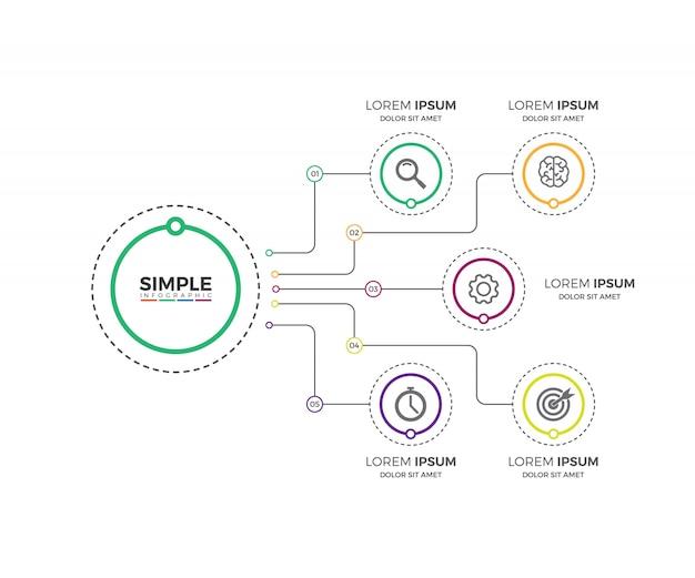 ビジネスプロセスチャートのインフォグラフィック