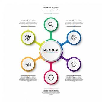 Шаблон оформления этикетки инфографики вектор