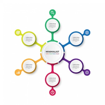 ミニマリストのインフォグラフィックデザイン