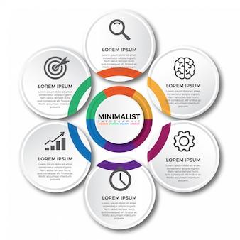 円形ビジネスインフォグラフィックテンプレート