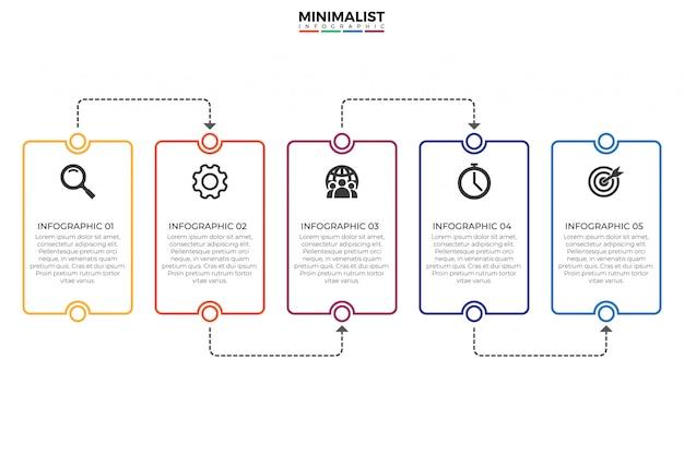 タイムラインのインフォグラフィックデザインテンプレート