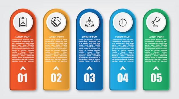 創造的なインフォグラフィックラベルデザイン