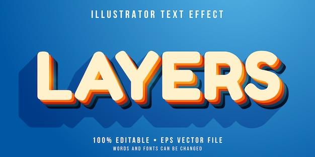 Редактируемый текстовый эффект - стиль многослойного текста
