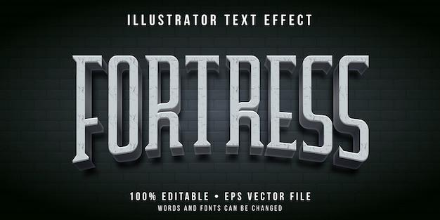 Редактируемый текстовый эффект - стиль крепости замка