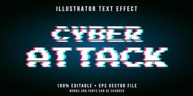 Редактируемый текстовый эффект - стиль кибер-глюка