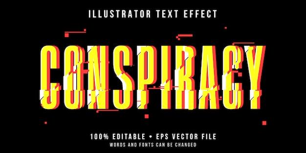 Редактируемый текстовый эффект - стиль глюка