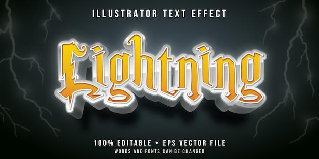 Редактируемый текстовый эффект - стиль текста молнии