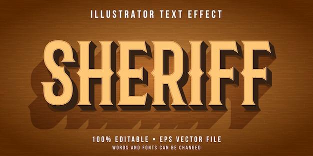 Редактируемый текстовый эффект - стиль дикого запада
