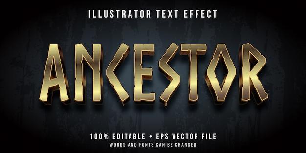 Редактируемый текстовый эффект - наследственный стиль