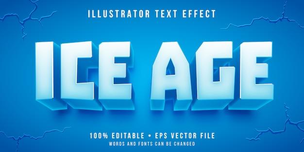 Редактируемый текстовый эффект - стиль ледяного блока