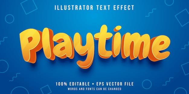 Редактируемый текстовый эффект - игривый стиль текста