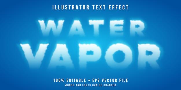 Редактируемый текстовый эффект - стиль водяного пара
