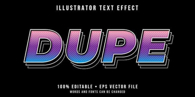 Редактируемый текстовый эффект - стиль дублированного текста