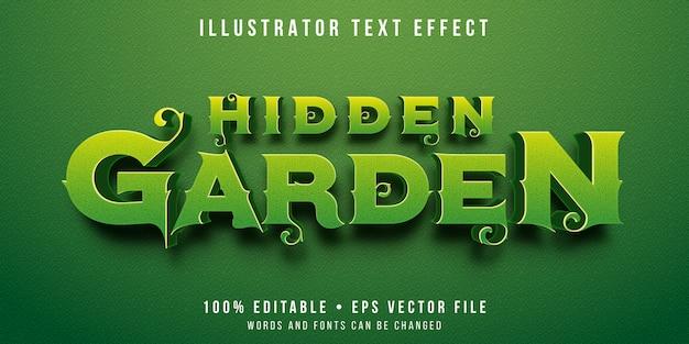 Редактируемый текстовый эффект - стиль сада
