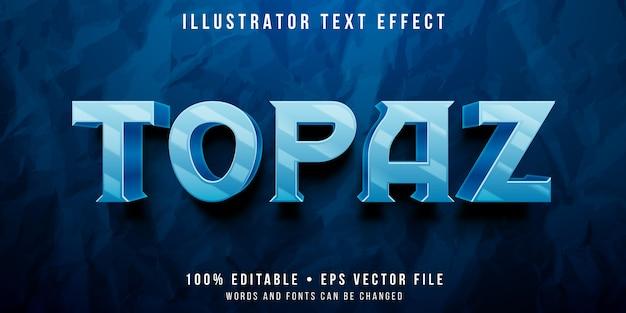 Редактируемый текстовый эффект - стиль с топазом